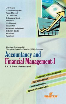 Accountancy and Financial Management–I–F.Y.B.Com.–Semester–I