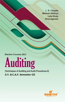 Auditing (Techniques of Auditing and Audit Procedures‐II)–S.Y.B.C.A.F.–Semester–III