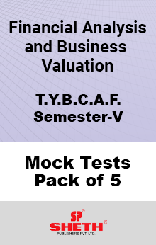Financial Analysis and Business Valuation BCAF SEM V Mock Tests Pack of Five