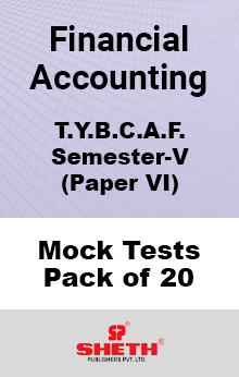 Financial Accounting Paper VI BCAF SEM V Mock Tests Pack of Twenty