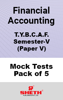 Financial Accounting- V BCAF SEM V Mock Tests Pack of Five