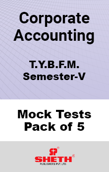 Corporate Accounting BFM SEM V Mock Tests Pack of Five