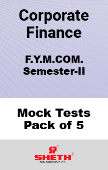 Corporate Finance MCOM SEM II Mock Tests Pack of Five