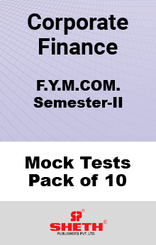 Corporate Finance MCOM SEM II Mock Tests Pack of Ten