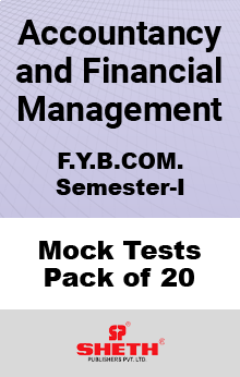 Accountancy and Financial Management BCOM SEM I Mock Tests Pack of Twenty