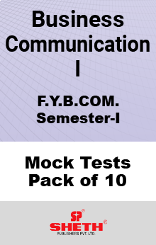 Business Communication I BCOM SEM I Mock Tests Pack of Ten