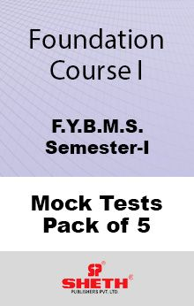 Foundation Course–I–B.M.S.–Sem–I Mock Tests Pack of Five