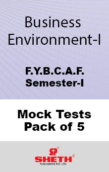 Business Environment – BCAF – SEM I Mock Test Pack of Five