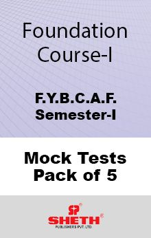 Foundation Course – BCAF – SEM I Mock Test Pack of Five