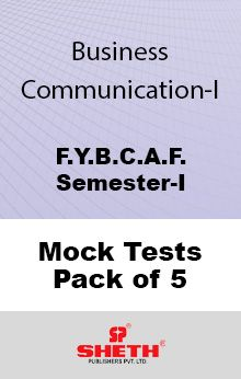 Business Communication - BCAF –  SEM I Mock Tests Pack of Five