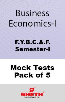 Business Economics – BCAF– SEM I Mock Tests Pack of Five