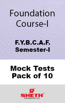Foundation Course – BCAF – SEM I Mock Tests Pack of Ten