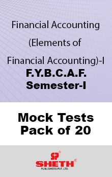 Financial Accounting– BCAF - SEM I Mock Tests Pack of Twenty