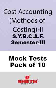 Cost Accounting – BCAF – SEM III Mock Tests Pack of Ten