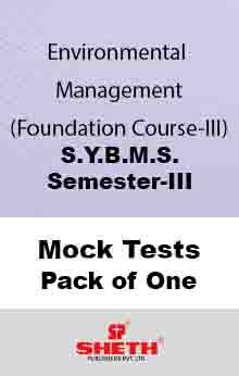 Env. Mgt. (F.C.–III)–B.M.S.–Sem–III Mock Test Pack of One