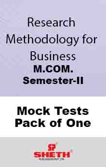 Research Methodology–M.Com.–Sem–II Mock Test Pack of One