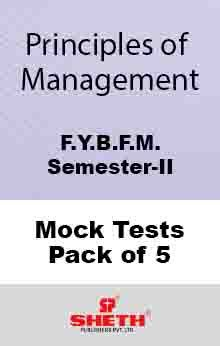 Principles of Mgmt BFM Sem II Mock Test (Pack of FIve)