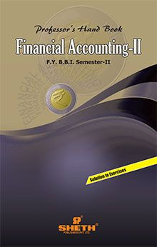 Prof. Handbook in Financial A/c.–F.Y.B.B.I.–Sem–II