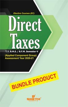 DIRECT TAXES- T.Y.B.F.M- Semester-V-Bundle Product