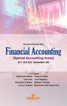 Financial Accounting (Special Accounting Areas)- S.Y.B.C.A.F-Semester-III